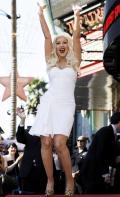Кристина Агилера  получила звезду на Аллее Славы в Голливуде