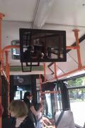 Новый вид рекламы в автобусах Минска.