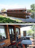 Первая плавучая гостиница «Полесье» в Беларуси