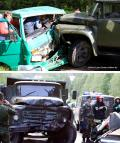 ЗИЛ вмял микроавтобус под Минском