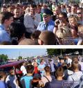 Забастовка на погранпереходе  «Варшавский мост»