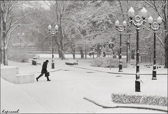 Про символизм и первый снег в парке