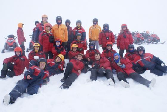 На леднике в Исландии