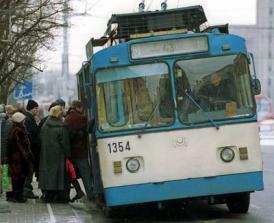 Городской троллейбус