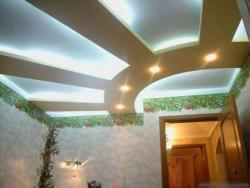 Двухуровневые потолки с подсветкой и их установка