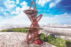 Лондон 2012. Символ Игр - монумент Arcelor Mittal Orbit