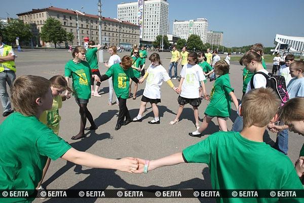Акция НЕТ-КУРЕНИЮ в Минске