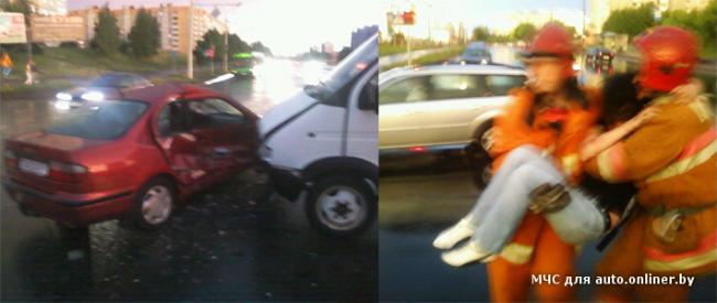 Авария в Минский дождь