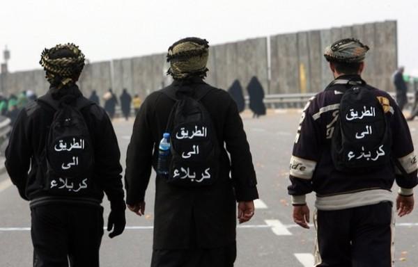 Багдадские паломники с фирменными рюкзаками