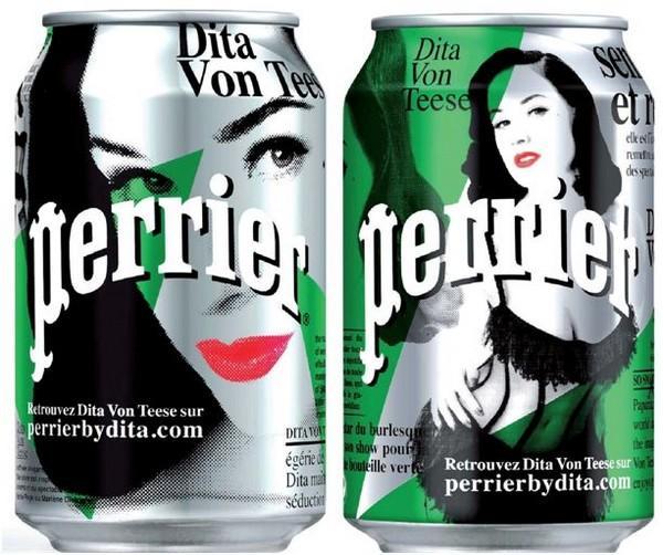 Дита фон Тиз стала лицом Perrier