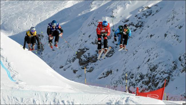 Горнолыжные соревнования в Альпах