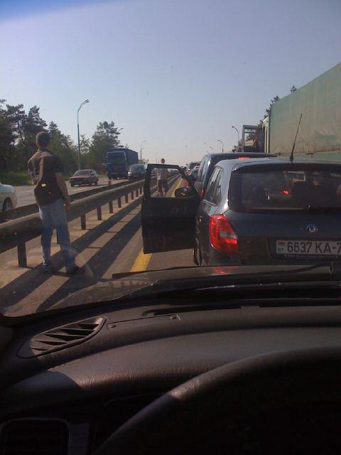 Минская кольцевая дорога утром 1 июня