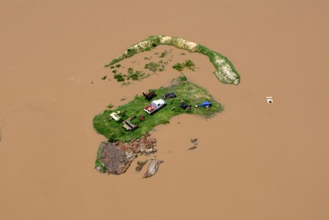 Наводнение в Австралии. Вид с воздуха.