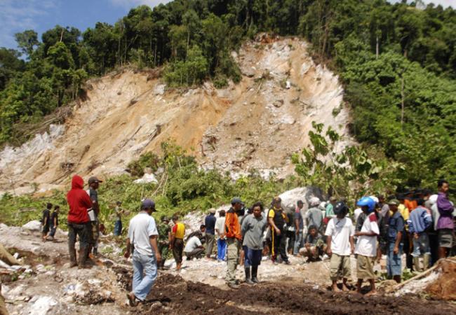 Оползень в провинции Центральный Сулавеси