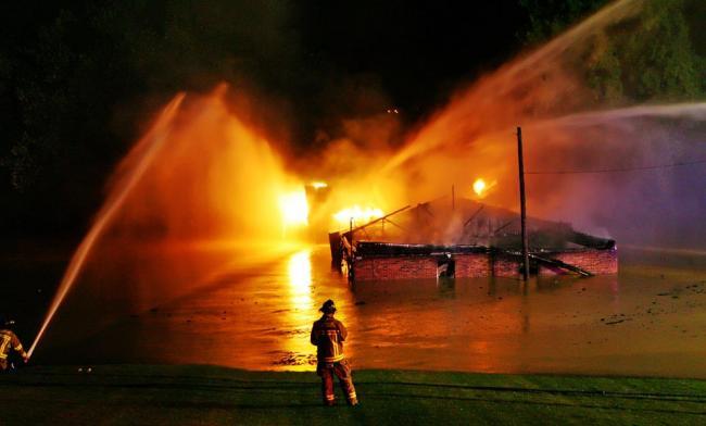 Пожар в штате Айова в США