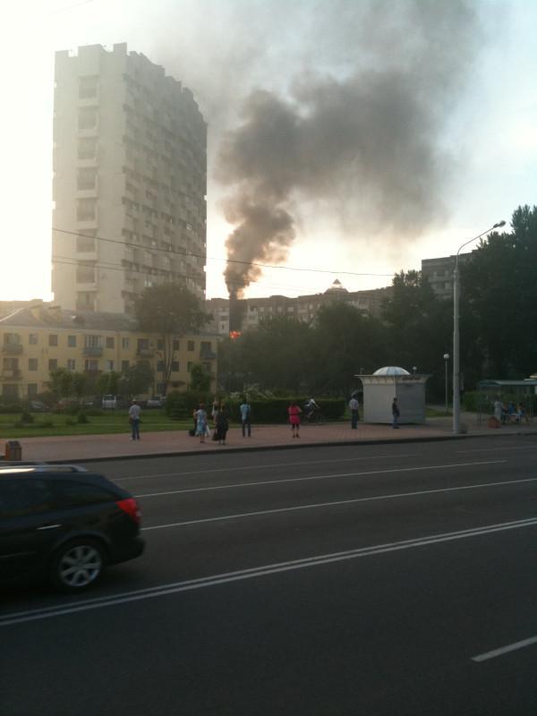 Пожар возле Белой Вежи