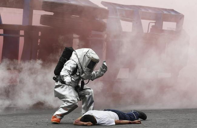 Пожарные учения в Чили