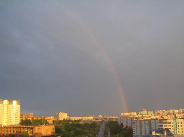 После хорошего дождя в Минске опять радуга