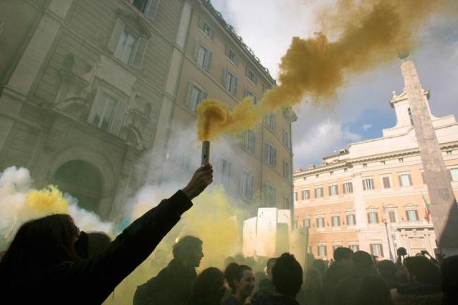 Протесты студентов в Риме