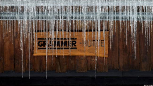Сильные морозы в Германии