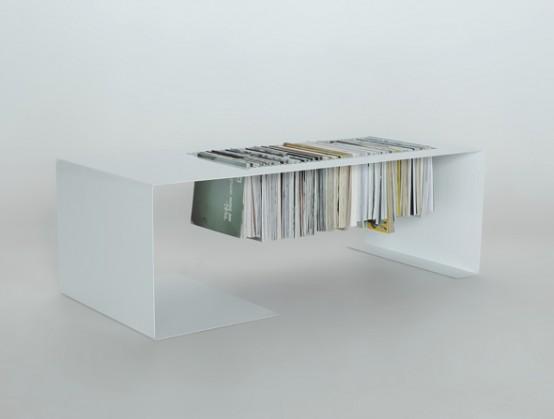 Стол для журналов из инструментальной стали