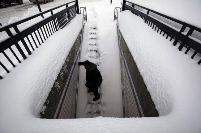 В Филадельфии много снега