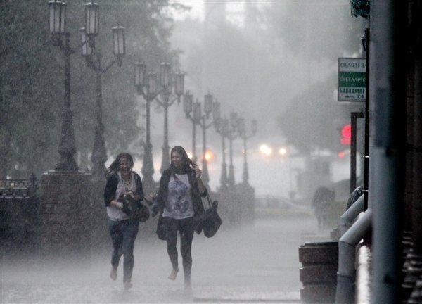 В Минске 21 июня местами прошел ливень
