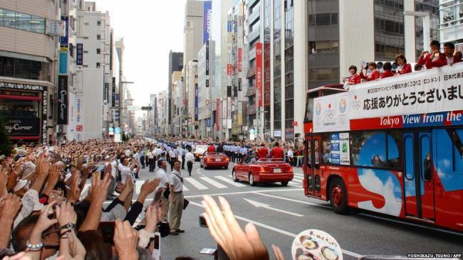 В Токио встречают медалистов Олимпиады