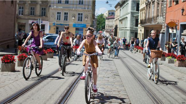 Велопарад во Львове