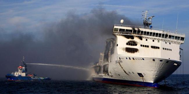 Взрыв на корабле Lisco Gloria