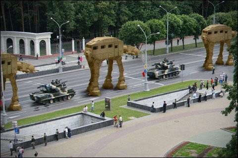 Звездные войны на параде к дню Независимости