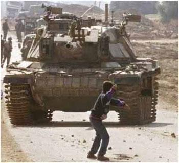-Boy throws Rock at Tank-