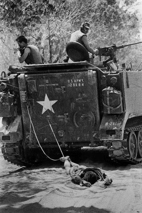 Dragging Vietcong Soldier