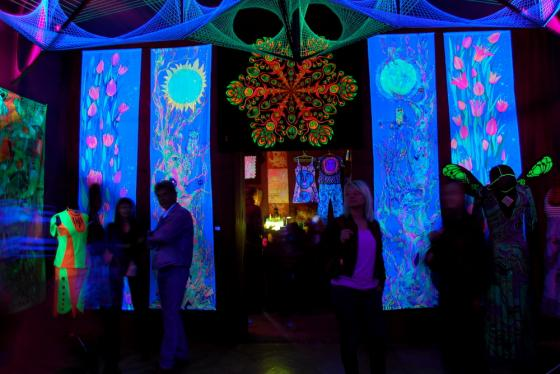 Флуоресцентное  психоделическое искусство от TranceCarpathiArts