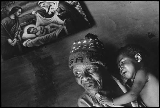 South Africa, 2000 - Grandmother cared for young girl affected by HIV.