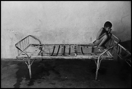 Romania, 1990 - An orphan in an institution for
