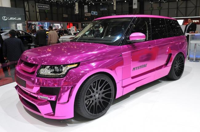 Hamann представил эксклюзивный кислотно-розовый Range Rover