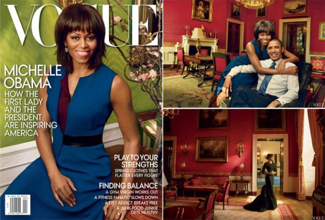 Первая леди США Мишель Обама украсила обложку Vogue US