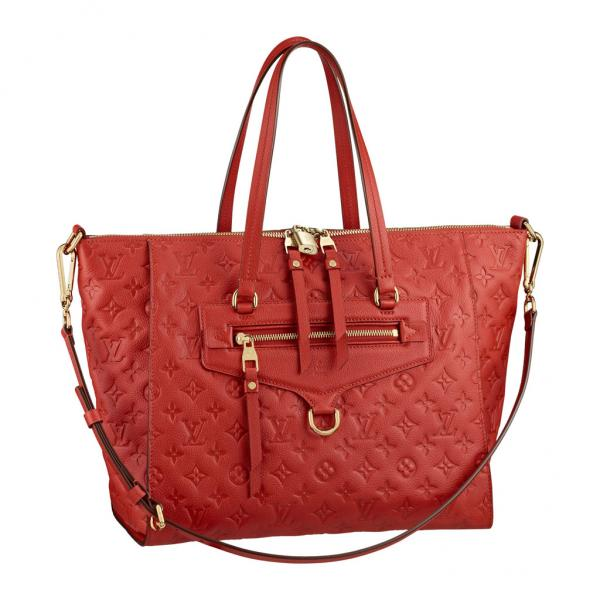 Женская сумка Louis Vuitton Lumineuse PM, Monogram Empreinte (Луи Виттон Люминоз Монограм Эмпрэнт)