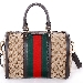 Женская сумка Gucci Vintage Web Boston Bag (Гуччи Винтаж веб бостон бэг)